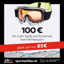 € 100.- Gutschein für die optische Skibrille